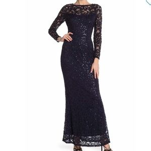 Marina | Sequin Lace Long Sleeve Gown